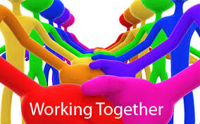 working together